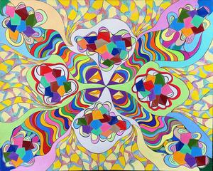 Monique BERTINA - Peinture - Psychédélique