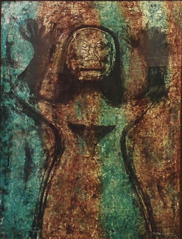 Rufino TAMAYO - Print-Multiple - MUJER CON BRAZOS EN ALTO