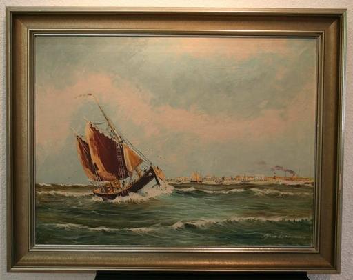 Heinz MINDERMANN - Pintura - Kutter vor Nordernay