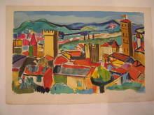 """François DESNOYER (1894-1972) - """"Le Village"""" 1960"""