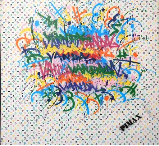 PIMAX - Painting - Louis le Vandal (Monogramme blanc), 2015