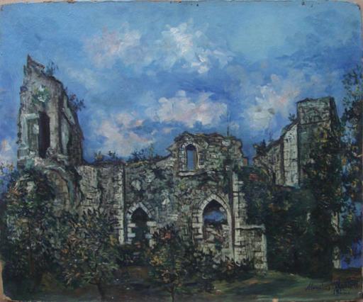Maurice UTRILLO - Pintura - Les ruines du Chateau de Chalucet