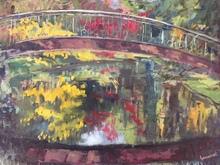 Anne DE LARMINAT - Painting - Le Pont de l'Arboretum