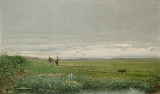 Edoardo MONTEFORTE - Pintura - scena di caccia