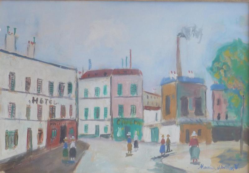 Maurice UTRILLO - Pintura -  The Factories / Les Usines