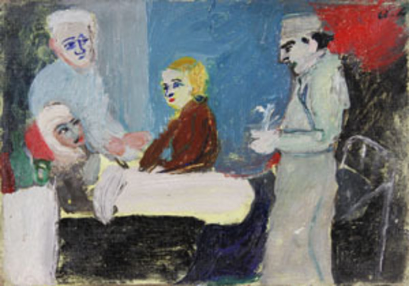 André LANSKOY - Painting - La Malade