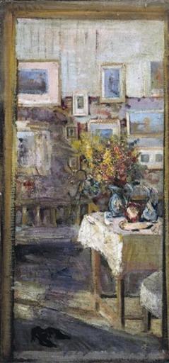 Mario CAVAGLIERI - Gemälde - Interno