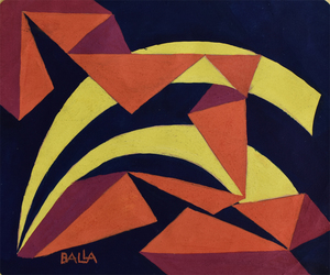 Giacomo BALLA - Painting - Forms Sound | Forme rumore