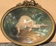 Charles Amable LENOIR - Painting - AT THE POOL