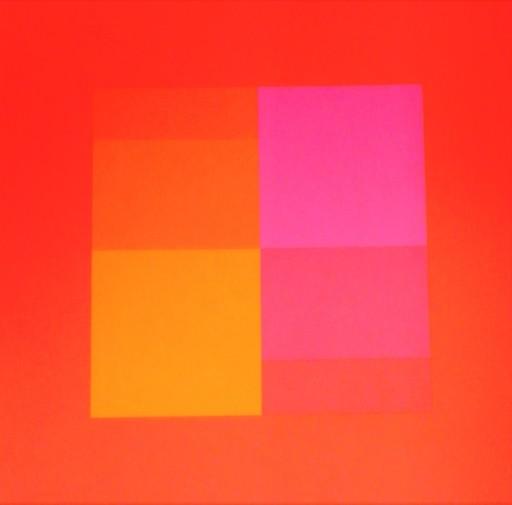 Jakob BILL - 版画 - Composizione in rosso