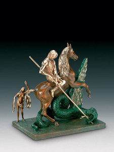 Salvador DALI - Scultura Volume - Saint George and the Dragon, St. Georges et le dragon