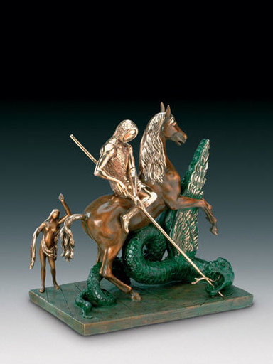 Salvador DALI - Sculpture-Volume - Saint George and the Dragon, St. Georges et le dragon