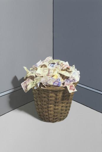 Patrick HUGHES - Grabado - Waste Paper