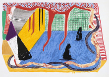 David HOCKNEY - Print-Multiple - Ink in the Room