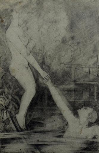 Konstantin Nikolaevich SURIAEV - Disegno Acquarello - Sinking