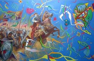 Alexander SAVKO - Pintura - WAR FOR THE UNDEFINED: A Doomed Miracle