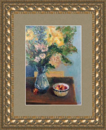 Levan URUSHADZE - Pintura - Yellow chrysanthemums
