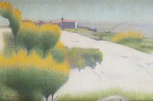 Achille LAUGÉ - Peinture - Genêts près de Cailhau, Aude