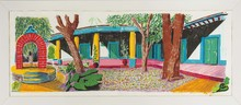 David HOCKNEY - Estampe-Multiple - Hotel Acatlan: Second Day from the Moving Focus Series
