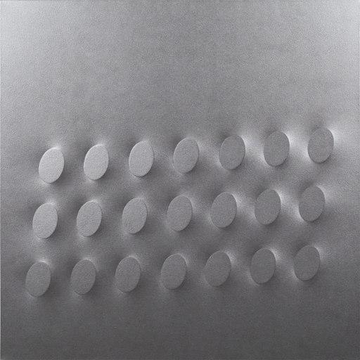 Turi SIMETI - Painting - 21 ovali argento