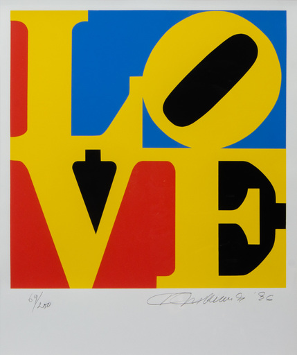 Robert INDIANA - Grabado - LOVE