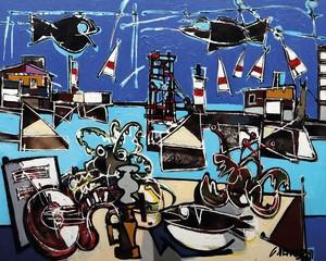 Claude VENARD - Gemälde - Le Port de la Seyne-sur-Mer