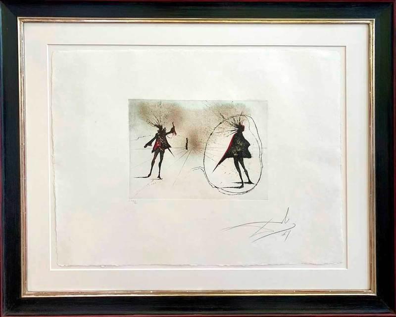 萨尔瓦多·达利 - 版画 - Salut à Mephisto