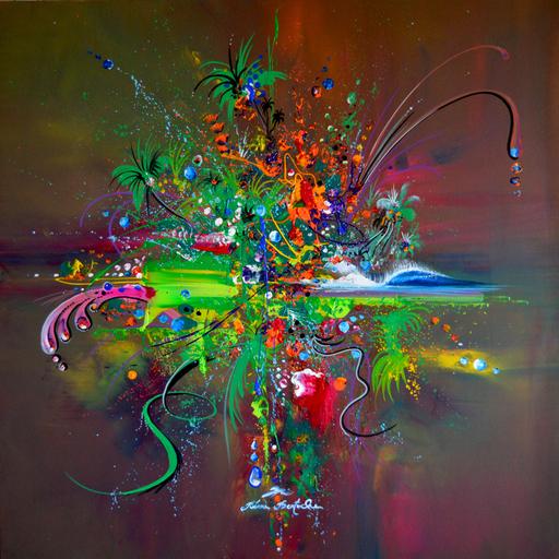 Rémi BERTOCHE - Print-Multiple - jungle abstract