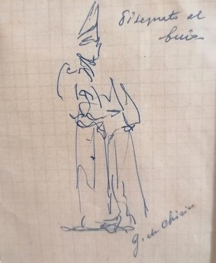 Giorgio DE CHIRICO - Zeichnung Aquarell - senza titolo