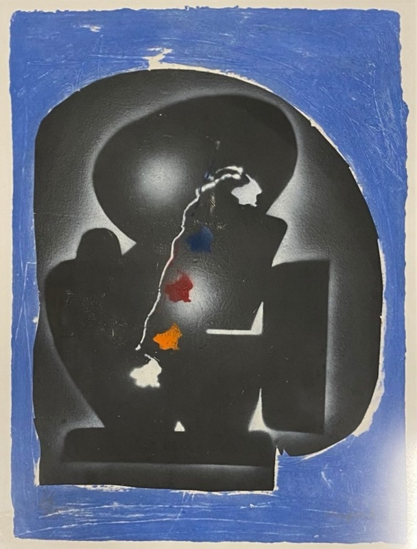 Ladislas KIJNO - Estampe-Multiple - Composition bleue