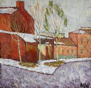 Valeriy NESTEROV - Peinture - Verkhnaya Radischevskaya Street. Moscow