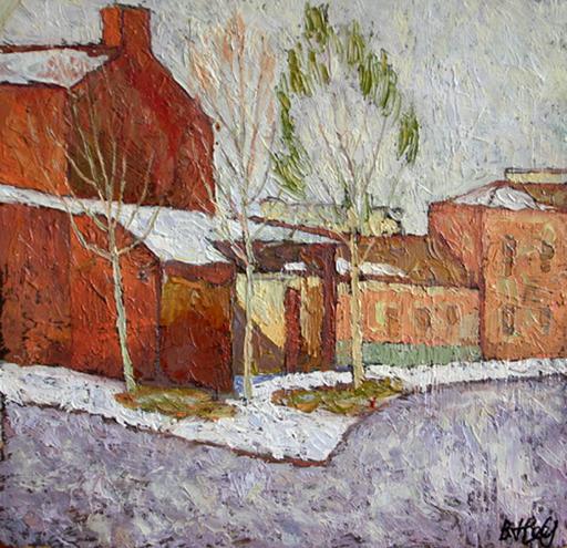 Valeriy NESTEROV - Pintura - Verkhnaya Radischevskaya Street. Moscow