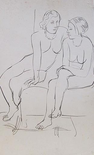 Erich HARTMANN - Dessin-Aquarelle - #19921: 2 nackte Frauen.