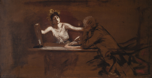 Albert VON KELLER - Pittura - Dichter und Muse