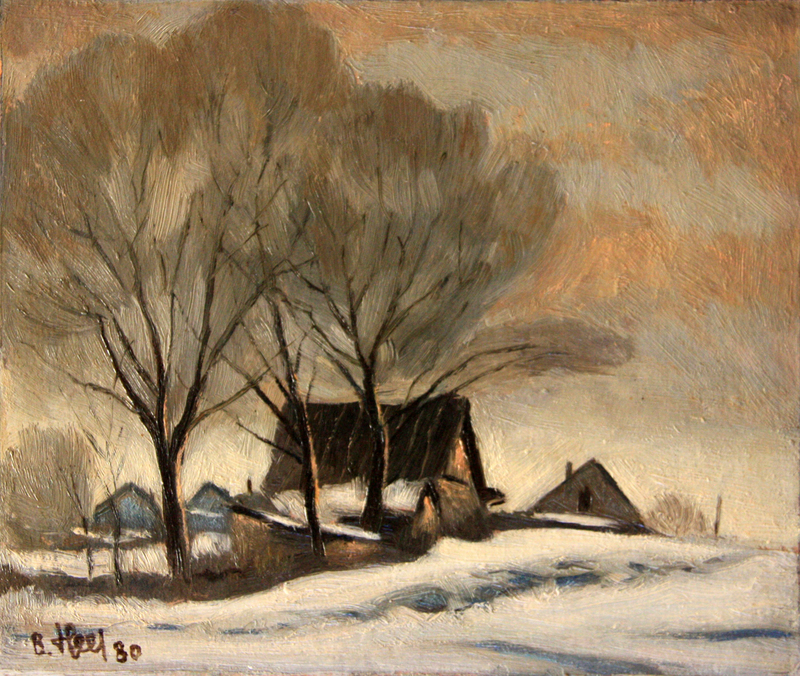Valeriy NESTEROV - Pintura - Morozki village. Moscow district