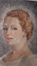Edgard WIETHASE - Pintura - portrait d'une dame