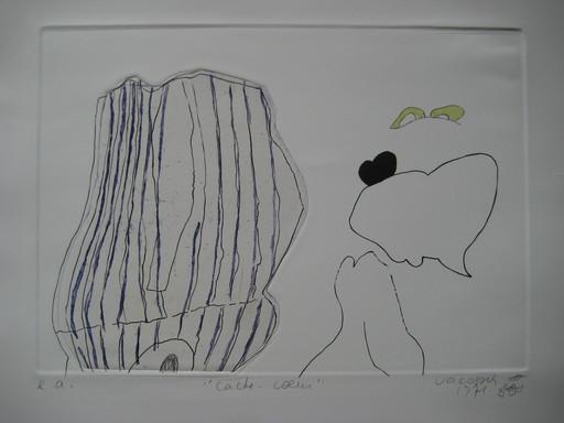 Marie-Thérèse VACOSSIN - 版画 - GRAVURE 1971 SIGNÉE AU CRAYON EA HANDSIGNED EA ETCHING