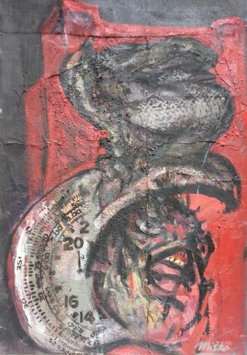 Misko PAVLOVIC - Pintura - Prisonnier de la Tour rouge