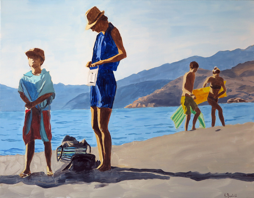 Karine BARTOLI - Painting - Porto Plage