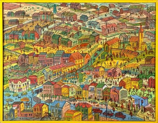 Edward DWURNIK - Painting - City