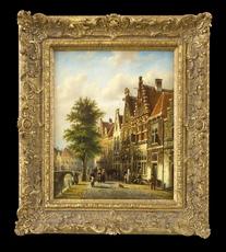 Johannes Franciscus SPOHLER - Pintura - The Grachten, Amsterdam (Pair)