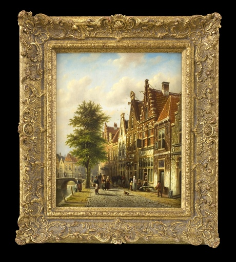 Johannes Franciscus SPOHLER - Pittura - The Grachten, Amsterdam (Pair)