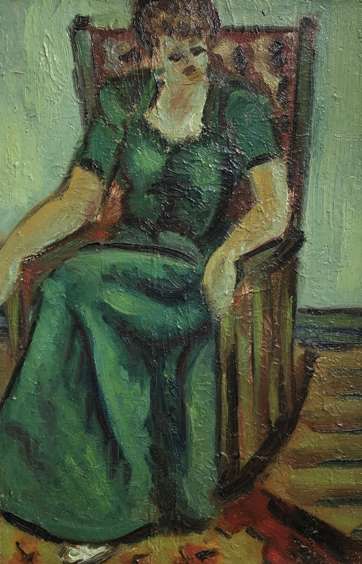 Roger CRUSAT - Painting - Femme assise