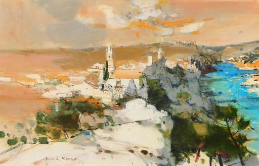 Michel RODDE - Painting - Le village d'Aiguéze