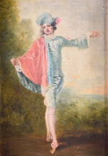 Jean-Antoine WATTEAU - Painting - The Indifferent Man