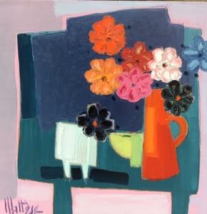 Jean-Pierre MALTESE - Painting - Le pot rouge