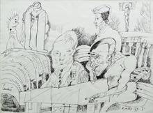 LUCEBERT - Drawing-Watercolor - Zonder titel 29