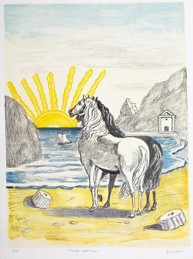 乔治•德•基里科 - 版画 - Cavalli Mediterranei, 1970