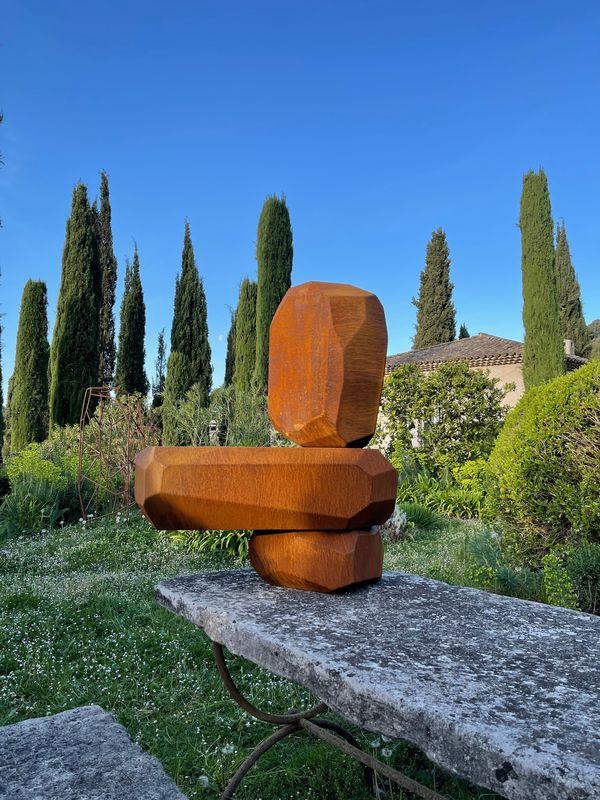 Arik LEVY - Sculpture-Volume - RockCorten set