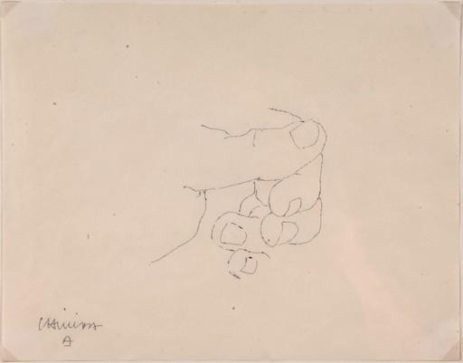 Eduardo CHILLIDA - Disegno Acquarello - Mano